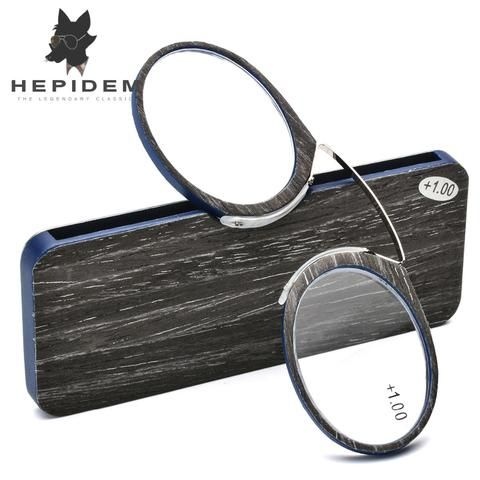 75f55fab4901d Wooden Stripe SOS Pince Nez Style Nose Resting Thin Pinching Optics Reading  Glasses for Old Men Women +1.0 +1.5 +2.0 +2.5 +3.0