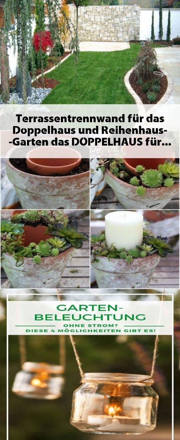 Garten Reihenhaus Terrassentrennwand Fr Das Doppel In 2020