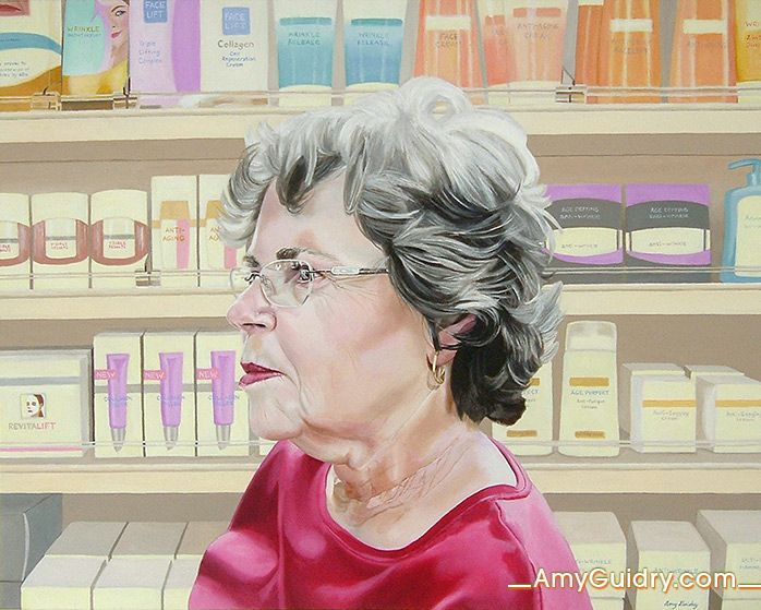 "Anti-Aging - Acrylic on Canvas - 30"" x 24"""