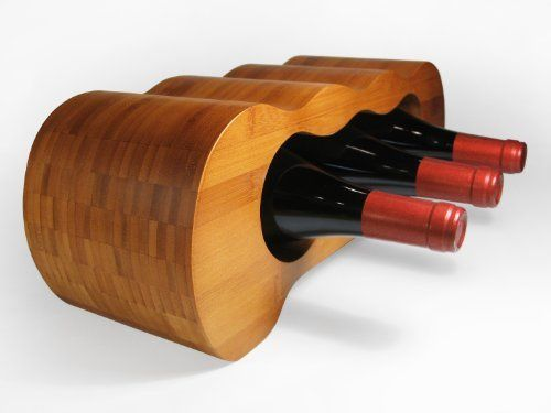 Hala Monolith - Modern Design Bamboo 6-bottle Wine Rack by Hala. Save 21 Off!. $38.00. Easily fits on countertops and under kitchen cabinets. solid bamboo. durable, easy to clean. Wine rack efficiently displays 6 bottles. Elegant, compact, and artful design. Beautiful bamboo wine rack with a timeless design. This piece is for the true connoisseur who wants to present six special wines or the casual wine and design lover who always has a few vintages on hand.