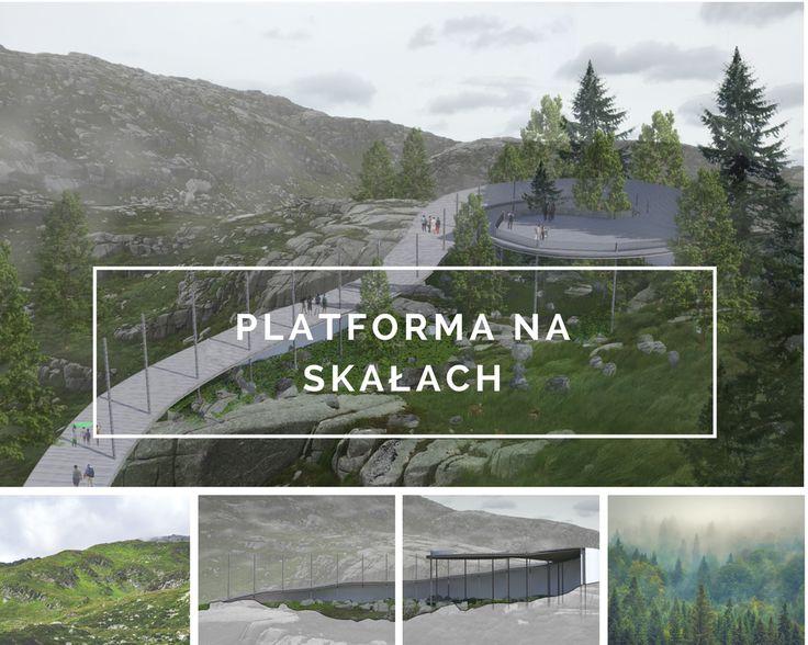 Platforma na skałach
