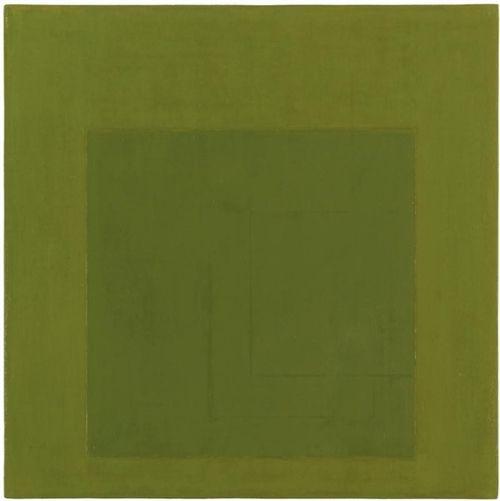 Antonio Calderara (Italian, 1903-1978), Quadrato sul quadrato, 1964. Enamel on board, 36 x 36cm.