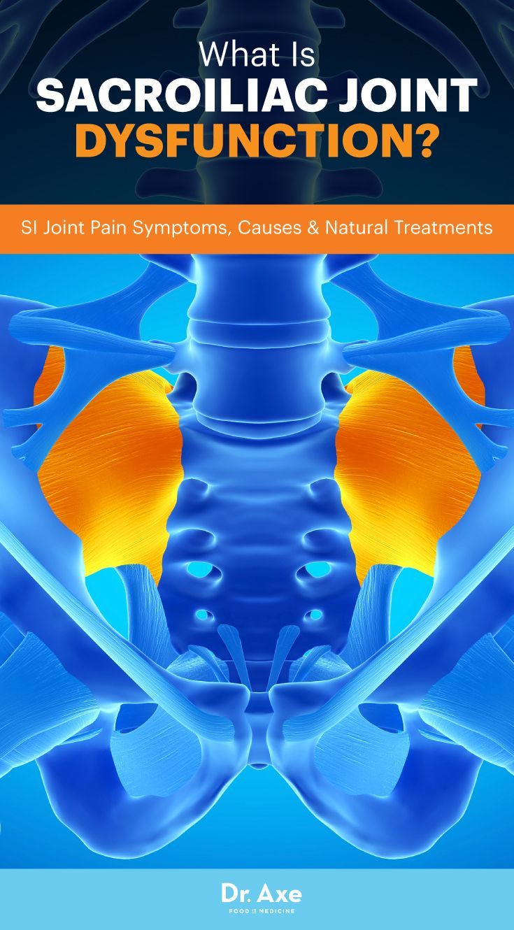 Sacroiliac joint dysfunction, also commonly called SI joint pain, is a condition that causes upper leg and lower back pain.