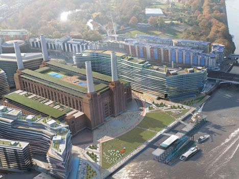 Battersea Power Station development: Bbc News, Battersea Development, Stations Development, Development Fire, Architecture Rendering, Stations Revamp, Design Phases, Power Stations, Battersea Power