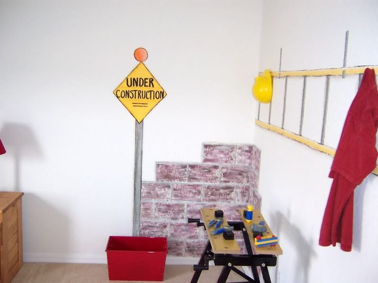 35 best construction room images on pinterest child room for Boys construction bedroom ideas