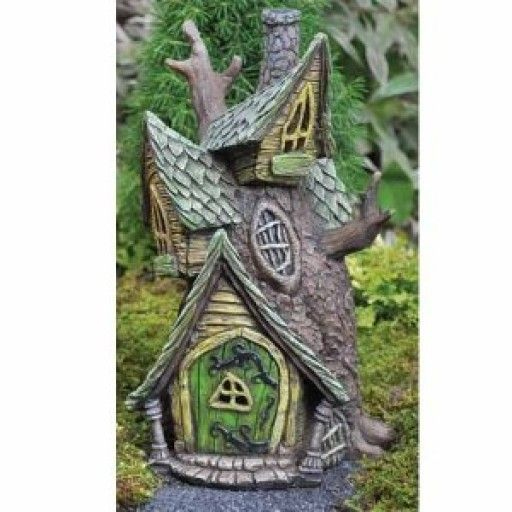 Awesome GEORGETOWN Fairy Home Resin Fairy Garden Treehouse (16496)