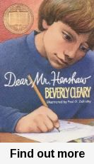 Dear Mr Henshaw by Beverly Cleary.Leigh Botts writes to his favourite author Boyd Henshaw for a school project, as a reader you only see what Leigh writes in response to Mr Henshaw and as the letters continue to be sent you are brought along for the ride learning more about Leighs life and his troubles as a child. Leigh begins writing a diary part way through to continue sharing his thoughts as part of his exercises of becoming an author himself.
