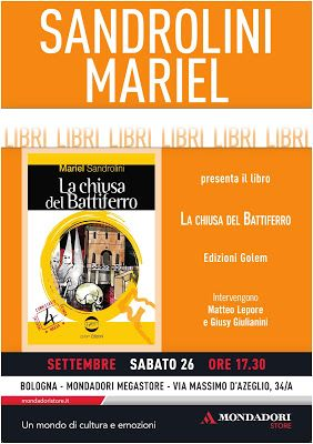 Mariel Sandrolini: Pomeriggio letterario a Bologna. libreria Mondador...