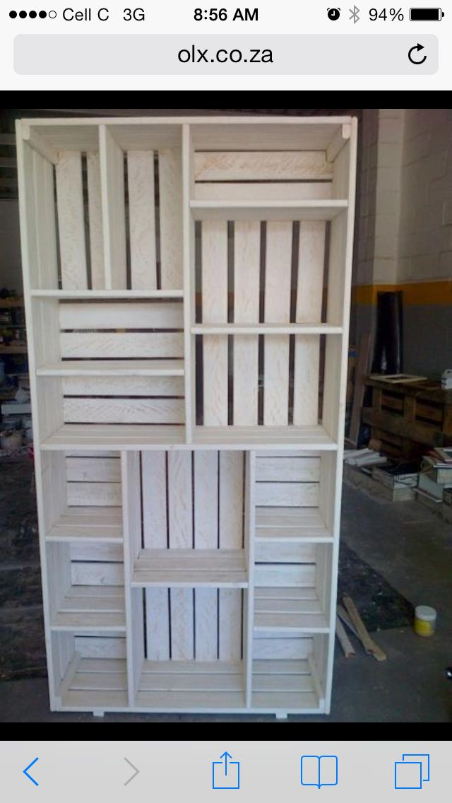 Crate shelves | Pallet and Crate ideas! | Pinterest ...