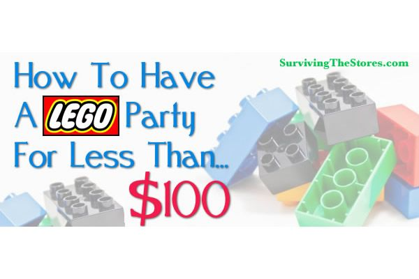 Lego birthday party for under $100