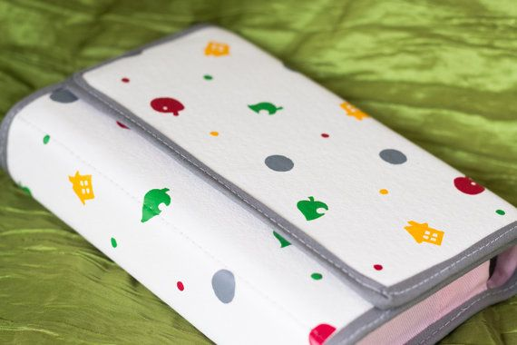 3Ds XL hard case hand painted with the animal crossing design by Derilyn, $44.99