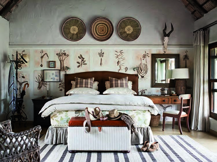 """Out of Africa' style  Singita Castleton, in the heart of South Africa's Sabi Sand Game Reserve"
