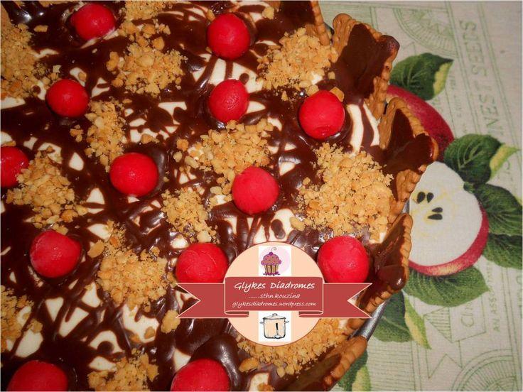 Cheesecake ice cream cake / glykesdiadromes.wordpress.com