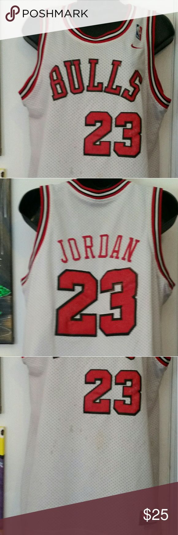 Jordan bulls jersey Jordan Bulls Jersey. Few spots on front. Large boys size Tops Tees - Short Sleeve