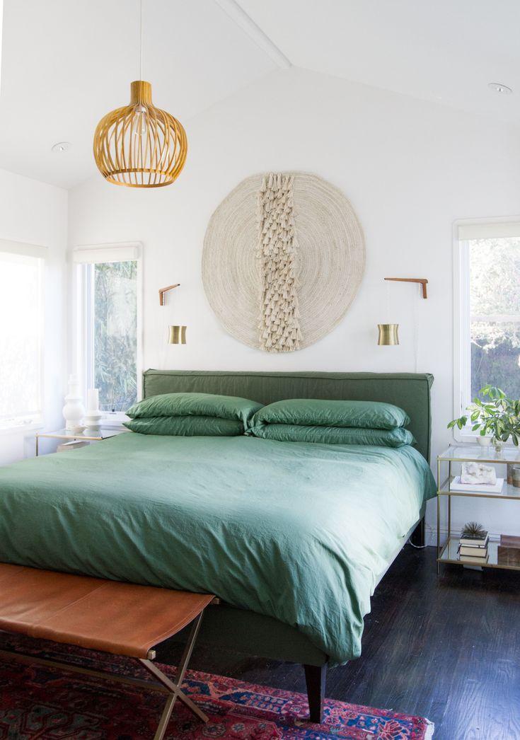 Mini Master Bedroom Makeover With @hiflaneur Custom Dyed Luxury Bedding //  Use Code Sarahssamuelxflaneur