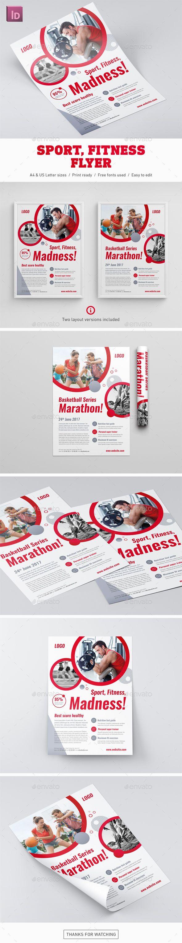 Sport Fitness Flyer Template InDesign INDD