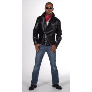 Déguisement veste Grease biker homme, Costume adulte deluxe Magic by Freddy's, rock'n roll, fêtes.