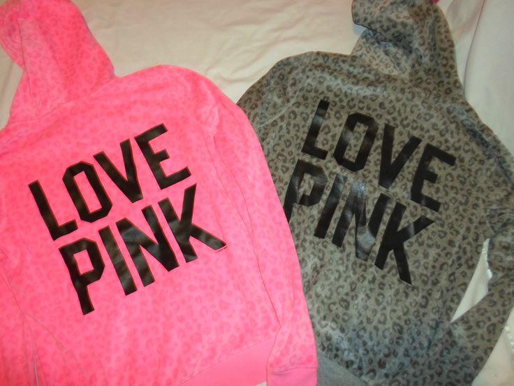 Victoria's Secret RARE Pink Cheetah Velour Hoodie