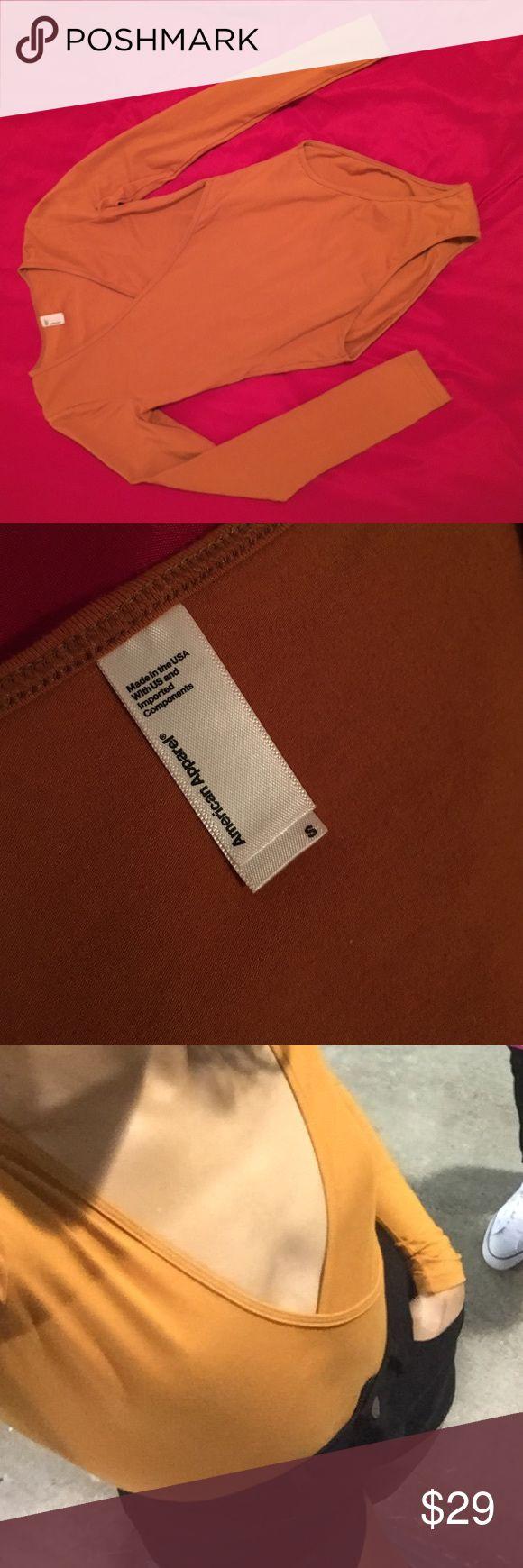 American Apparel long sleeve bodysuit Mustard yellow, American Apparel l/s bodysuit American Apparel Other