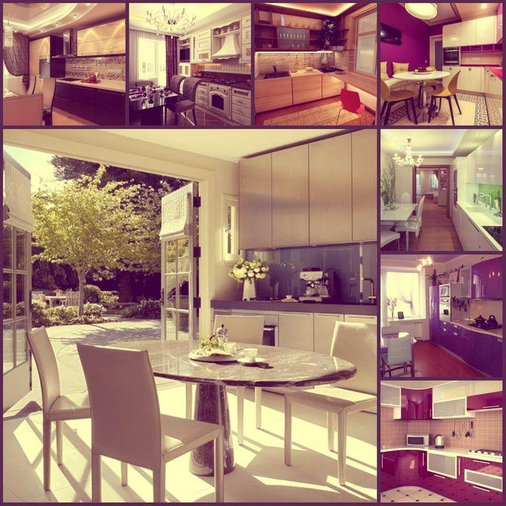 Прекрасные, просторные, яркие кухни.