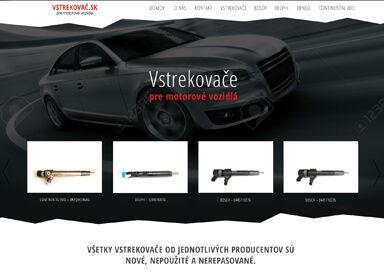 Tvorba web stránky pre Vstrekovac.sk