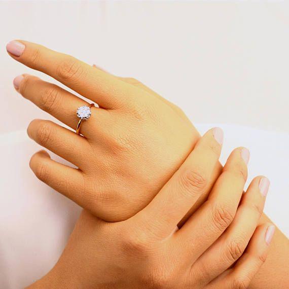 Leaf wedding ring Rough gold ring Diamond floral ring Lotus