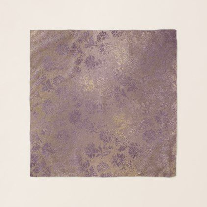 Stylish Crushed Velvet Floral Chiffon Scarf - floral gifts flower flowers gift ideas