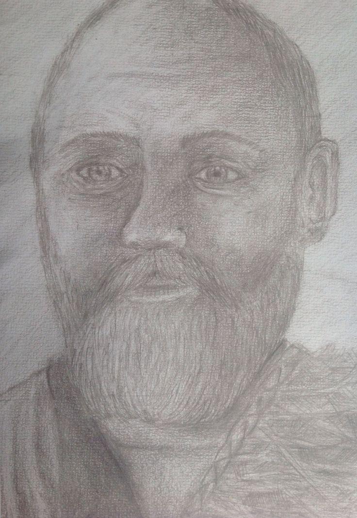 Pencil sketch canvas paper.