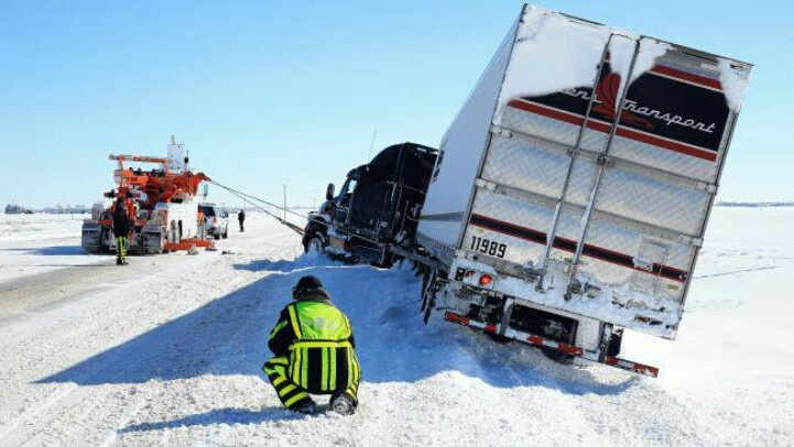 85 best trucks images on pinterest semi trucks big trucks and a tow truck pulls a semi truck onto the road in greensburg kansas fandeluxe Image collections