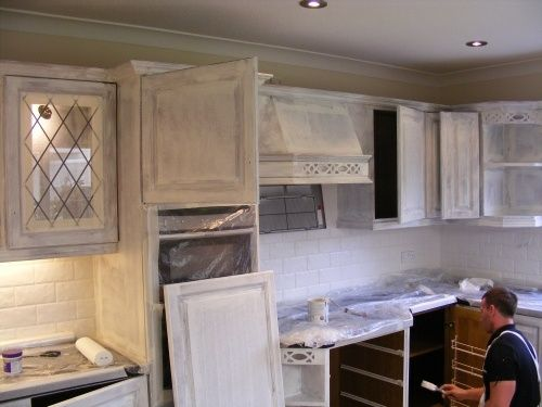 Handpainted Kitchen Being Primed