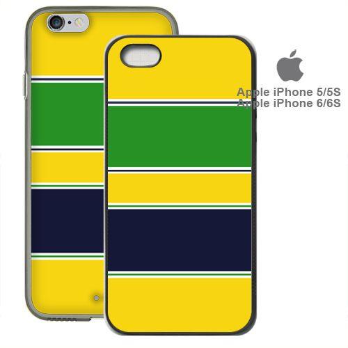 Ayrton Senna Helmet iPhone 5/5S 6/6S Case Rubber Silicone