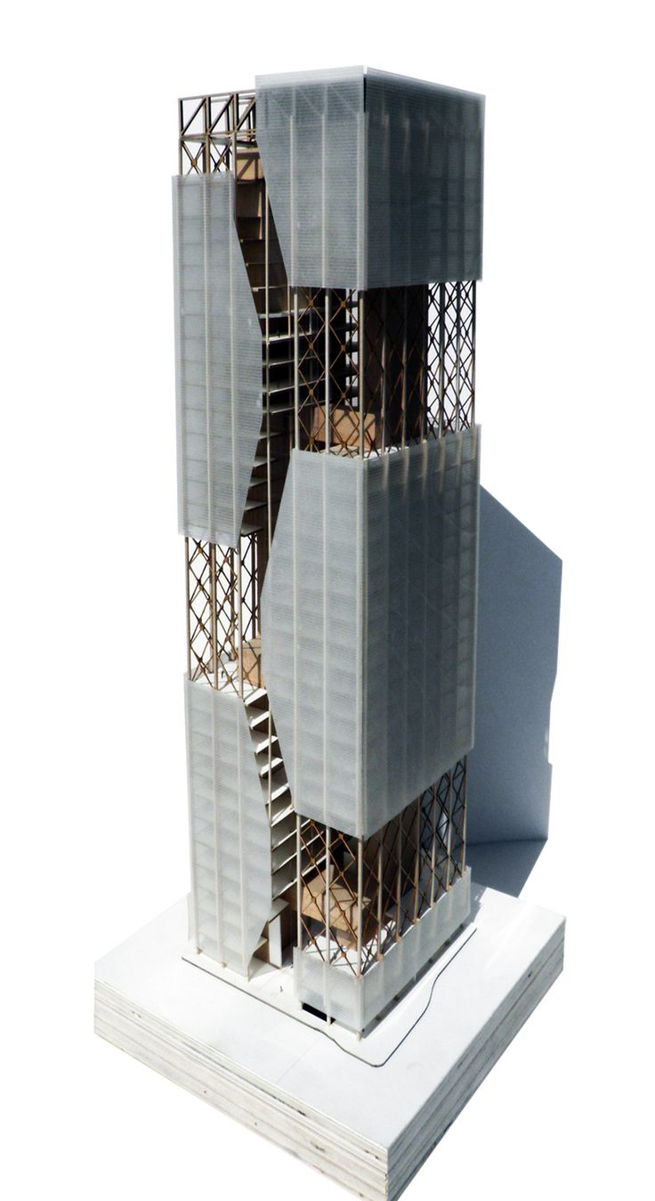 """Marcel Maslowski, USF School of Architecture, Class of 2012  Adv. Design B: """"Activating the voids"""" - Fall 2010, Professor Rados  Speculative Office Tower"""