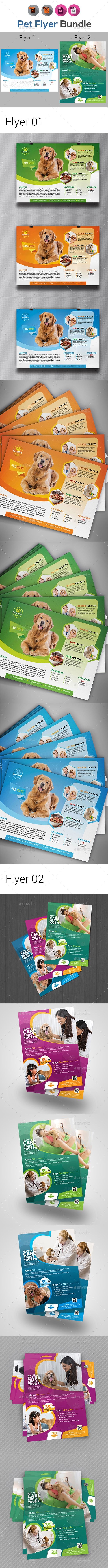 Pets #Flyer Templates - #Corporate Flyers Download here: https://graphicriver.net/item/pets-flyer-templates/19764785?ref=alena994