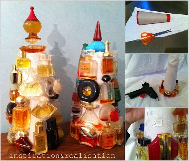 topiary Christmas trees: Xmas Trees, Small Christmas Trees, Perfume Bottles, Bottle Xmas, Diy, Craft Ideas, Christmas Ornament