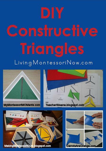 Montessori Monday – DIY Constructive Triangles - Printables, Tutorials, and Presentations and Extensions