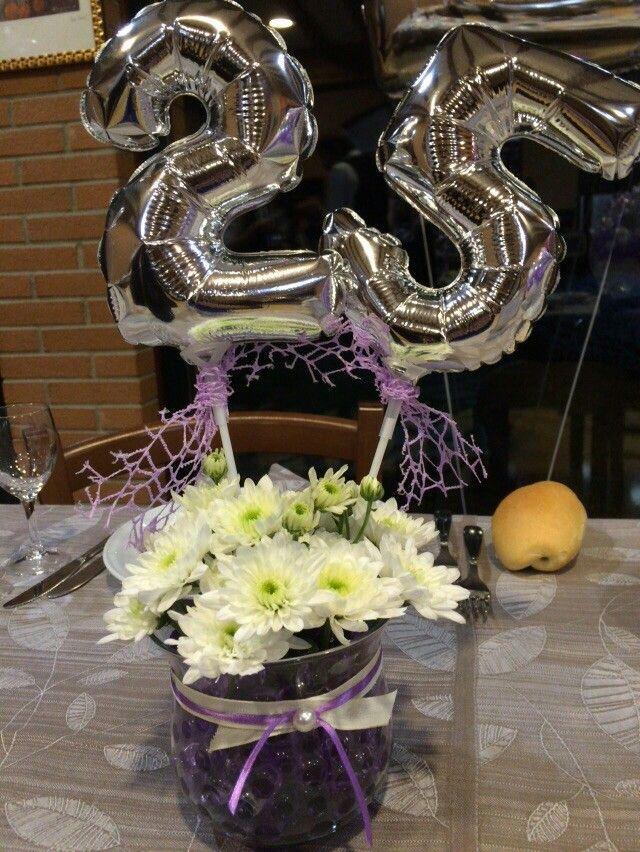 Centrotavola 25 anniversario di matrimonio allestimenti for Anniversario di matrimonio 25