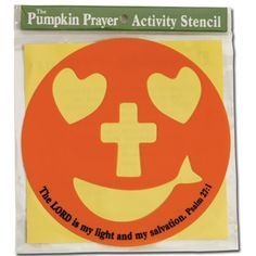 TEACHERS Use this stencil on a paper plate!  Free resources!  Christian Halloween or Fall Festival Pumpkin Stencil-CTA Inc