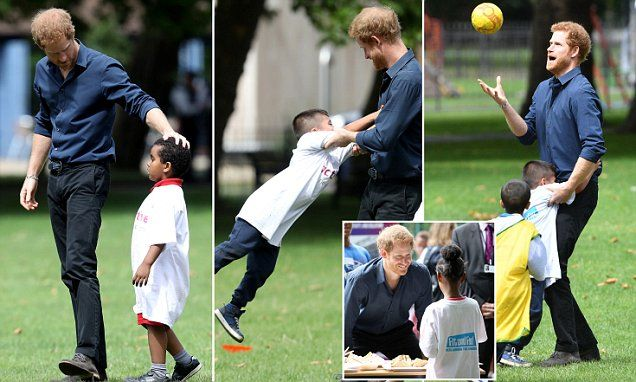 Harry, 32, travelled to east London to learn about the Fit and Fed campaign, providing children from Newham with access to free activity sessions and lunches throughout their summer holidays.