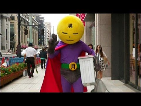 BBC Learning English: Video Words in the News: Dirt fighter mr full moon new super hero in Japan