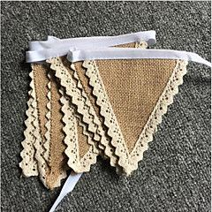 New+Arrive+Rustic+Hessian+Wedding+Party+Supplies+Home+Decoration+Jute+Burlap+Flag+Banners+Burlap+Lace+Bunting+Wedding+Sign+–+USD+$+12.00