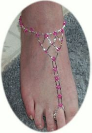 Ignore the foot, focus on the pattern.  Would be pretty with clear, silver bead and crystals