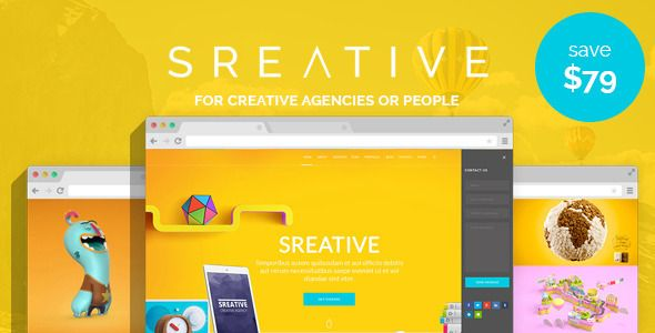 Sreative   Digital Agency WordPress Theme . Sreative   Digital Agency WordPress Theme has modern design and clean coded. Builded on most popular html-css framework BOOTSTRAP 3.3.4. Template can implament for all purpose of companies and freelancers. Amazing mockups and home page versions makes item more attractive. As always responsive and