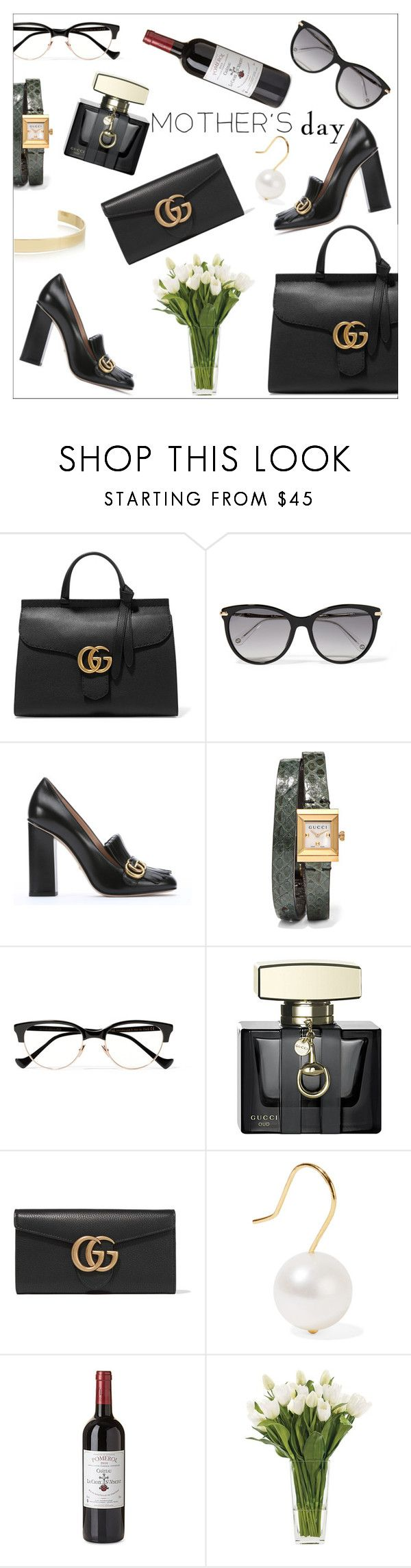 """""""Mother's Day Gift Guide"""" by danielle-487 ❤ liked on Polyvore featuring Gucci, Cutler and Gross, Aurélie Bidermann, NDI, Jennifer Fisher and mothersdaygiftguide"""