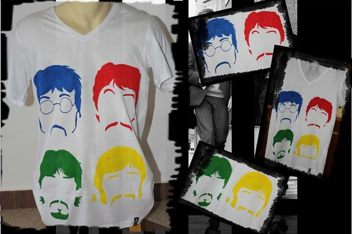 The Beatles hand painted t-shirt