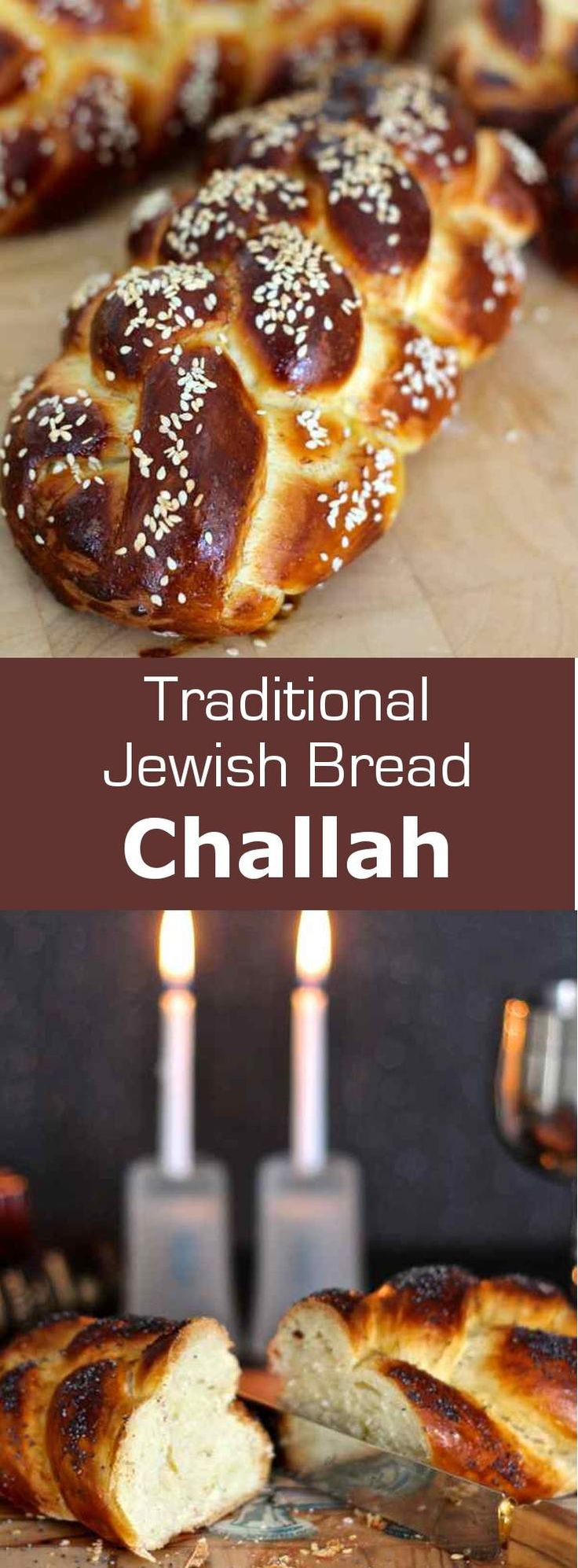 Challah is a traditional jewish bread, close to a brioche, that is often braided. It is prepared for shabbath and Jewish holidays. #jewish #bread #196flavors