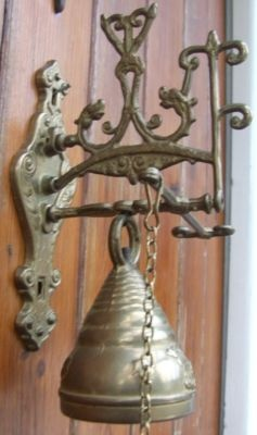 Old Iron French Door Bell | Antique French Shabby Chic Exquisite Shop  Keepers Door Bell |