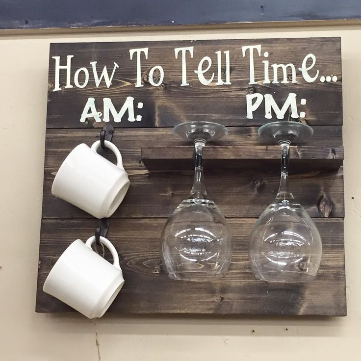 How to Tell Time Wine and Mug Rack | Southern Merle Woodworks