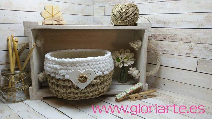 Coge tus agujas de crochet y empieza a tejer cestos de cuerda para decorar en casa. ¡Sigue este tutorial!