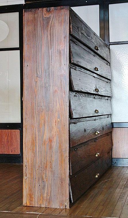 珍品!幅広大型パタパタ下駄箱アンティーク収納棚【品番S-4760】【送料ランクN】【推定年代昭和初期】
