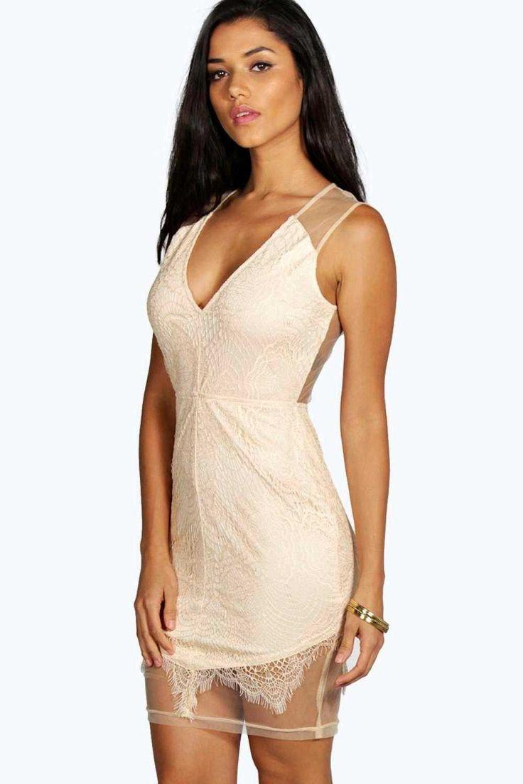 #FashionVault #boohoo #Sale #Women - Check this : boohoo Aura Boutique Eyelash Lace Bodycon Dress - blush for $54 USD instead of $22 #OnSale